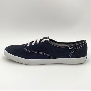 Keds Champion Canvas Sneakers Womens 9 Navy Blue